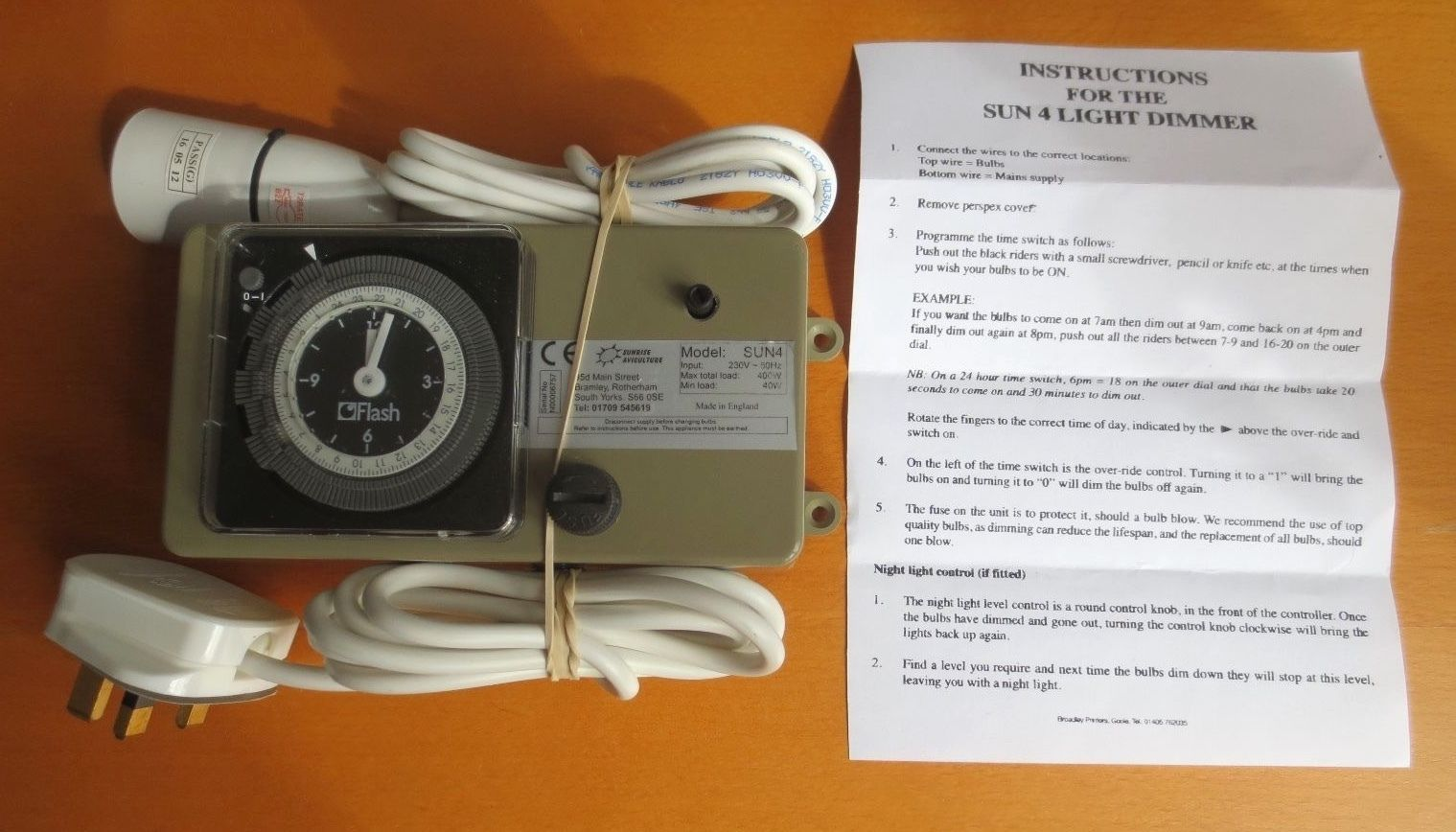 LIGHT DIMMER BIRDROOM LIGHTING DIMMER CONTROL BOX WITH NIGHT LIGHT